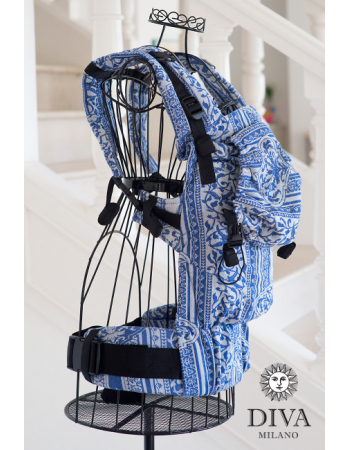 Diva Milano LE Wrap Conversion Buckle Carrier: Flora BluDiva Milano LE Wrap Conversion Buckle Carrier: Flora BluDiva Milano LE Wrap Conversion Buckle Carrier: Flora Blu