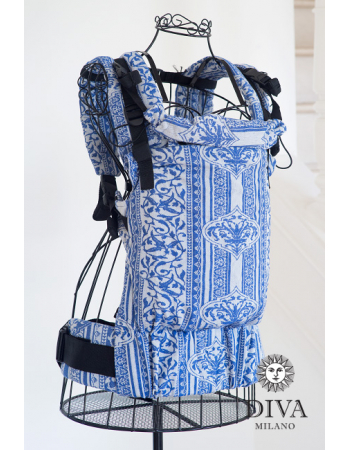 Diva Milano LE Wrap Conversion Buckle Carrier: Flora Blu