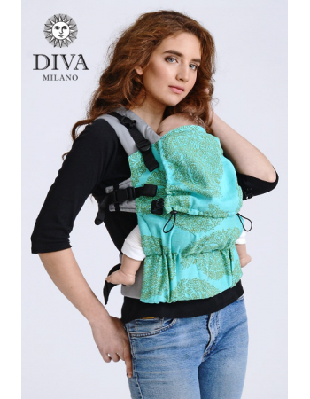 Diva Half Wrap Conversion Buckle Carrier: Menta Bamboo, The One!