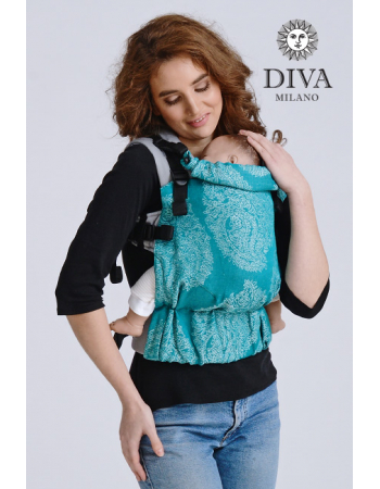 Diva Half Wrap Conversion Buckle Carrier: Smeraldo Linen, The One!