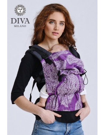 Diva Half Wrap Conversion Buckle Carrier: Viola Linen, The One!