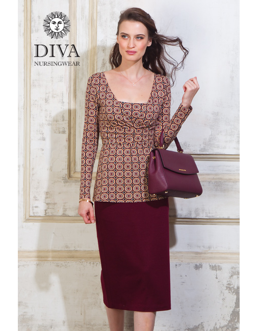 662e454302887 Nursing Top Diva Nursingwear Alba Long Sleeved, Sole