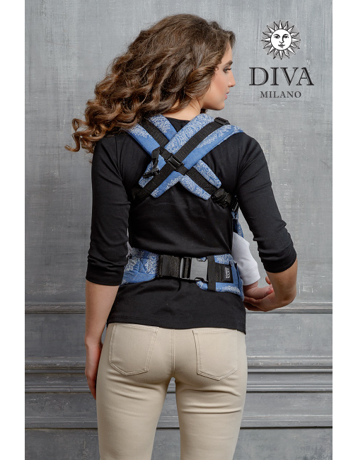 Diva Essenza Wrap Conversion Buckle Carrier: Azzurro Bamboo