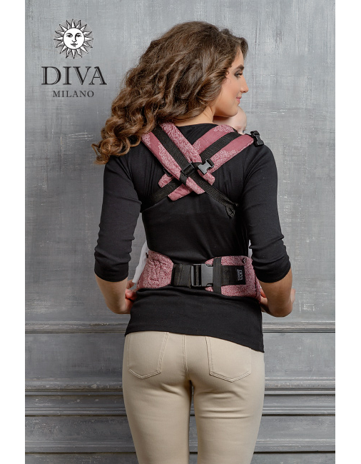 Diva Essenza Wrap Conversion Buckle Carrier: Berry Bamboo