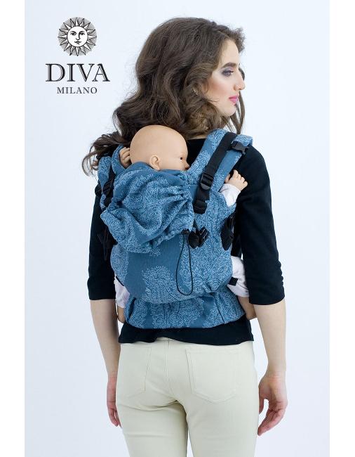 Diva Essenza Wrap Conversion Buckle Carrier: Eclipse Linen
