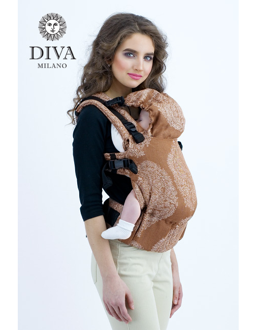 Diva Essenza Wrap Conversion Buckle Carrier: Moka Linen