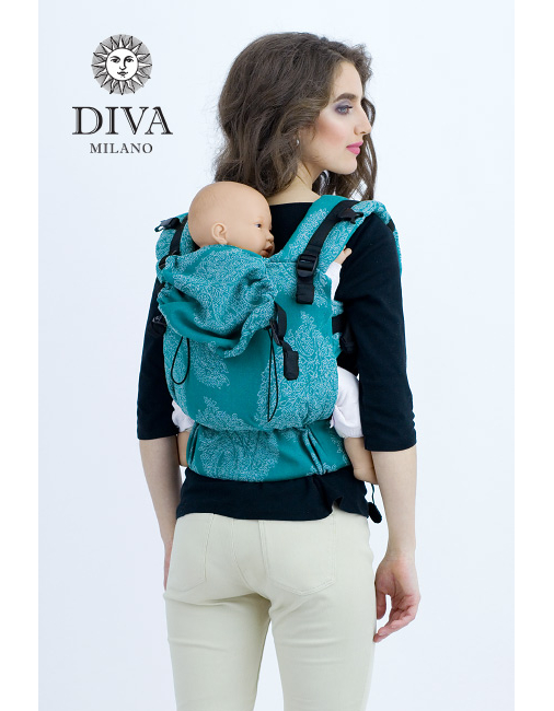 Diva Essenza Wrap Conversion Buckle Carrier: Smeraldo Linen